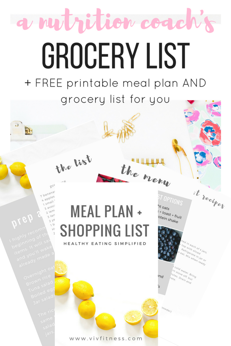 nutritionist-grocery-list
