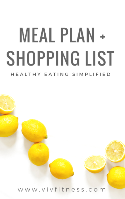 Download your free healthy menu and shopping list!