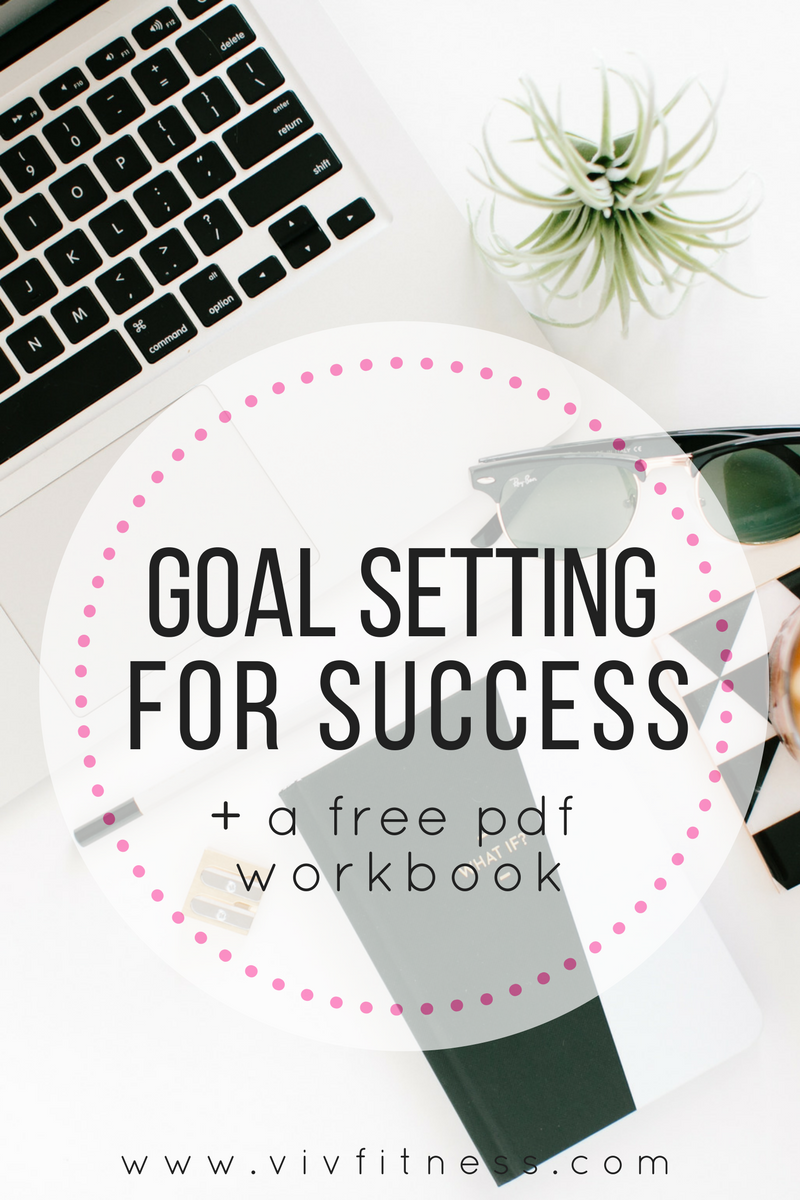 Tips and tricks for setting goals you will accomplish. Plus a free mini pdf workbook to get you started with setting goals today!