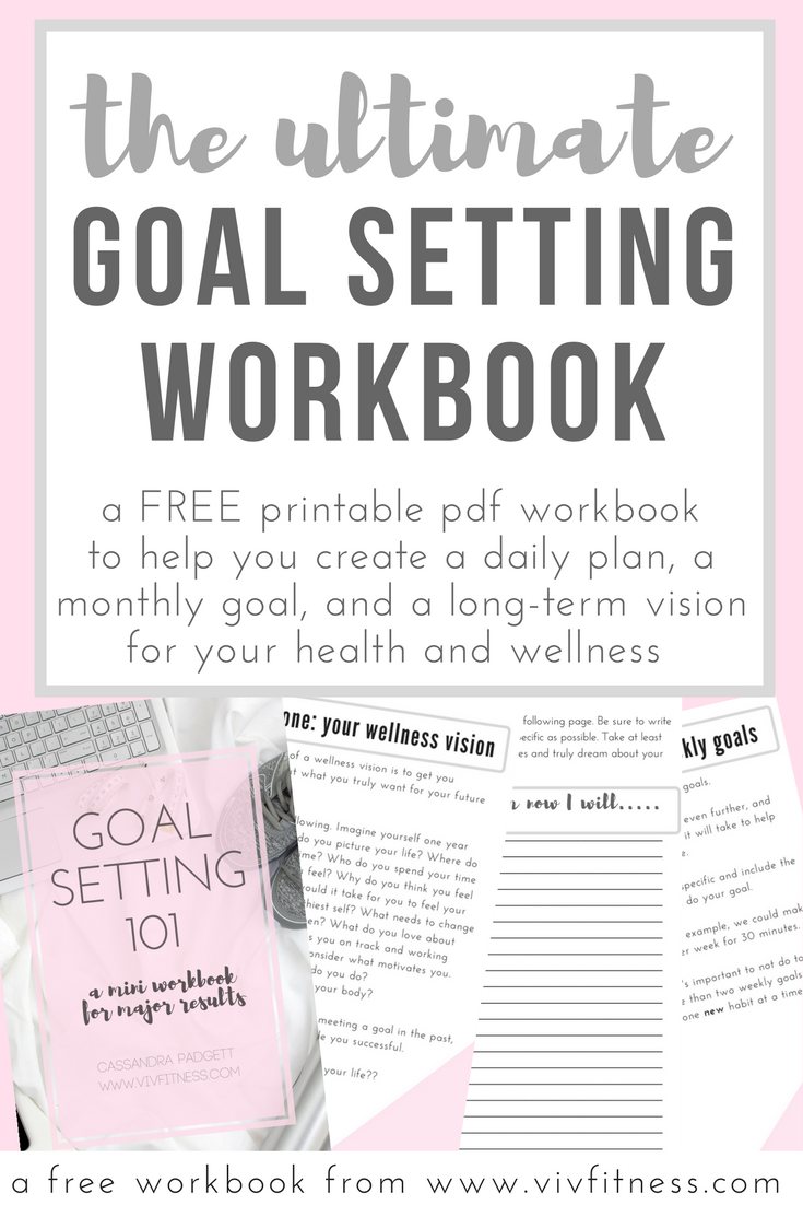 a pdf workbook to help you get clear on your health goals, make a plan, and KNOW what to focus on every day. A smiple and scientifically based method to setting goals you WILL meet. How to meet health and fitness goals WITHOUT getting overwhelmed.