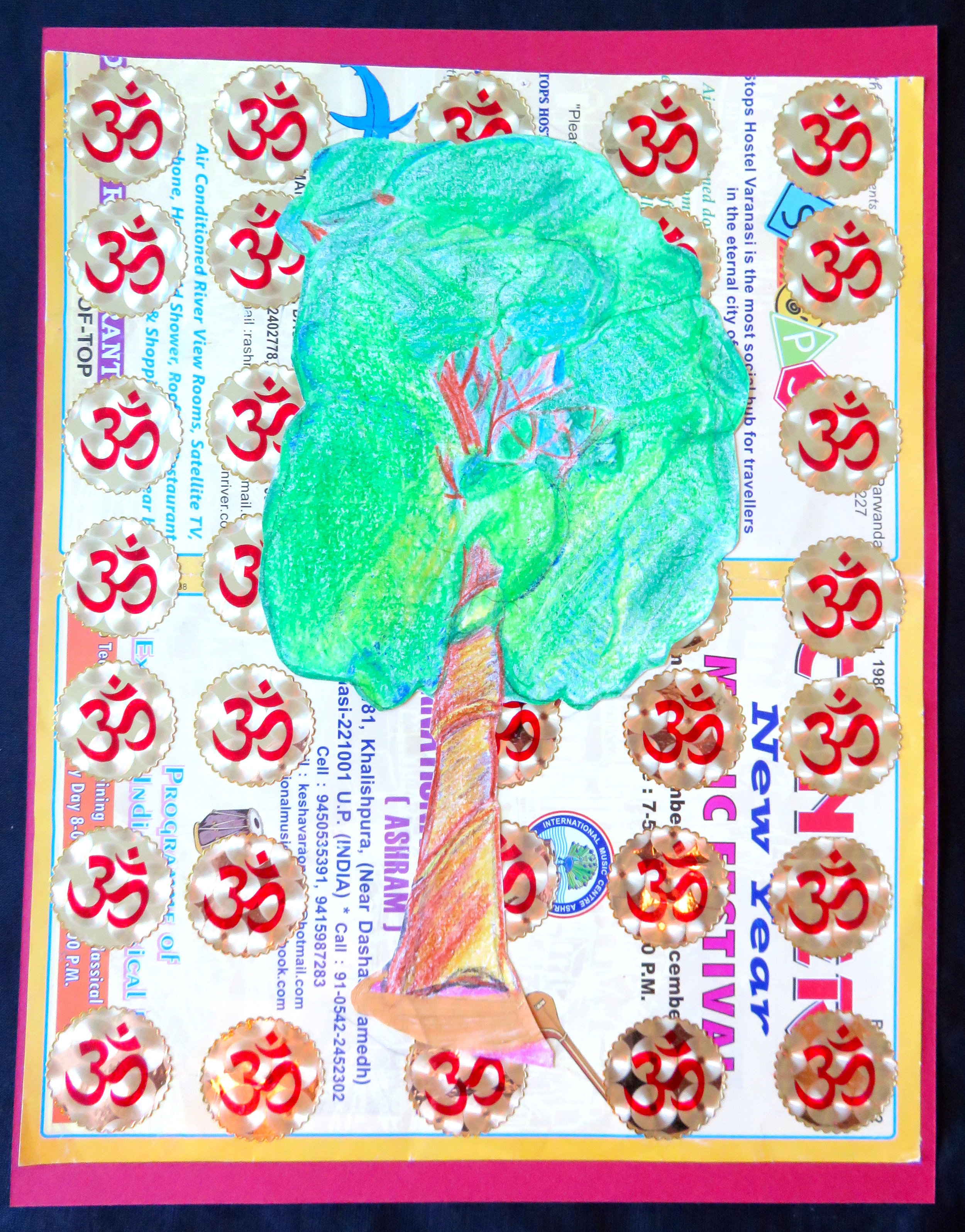 Sacred tree and om