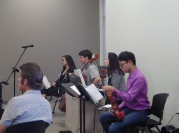 Alex Vidal, Cello // Melody Strickler, Vocalist // Andy Lin, Violist // Stephen Huang, Violist