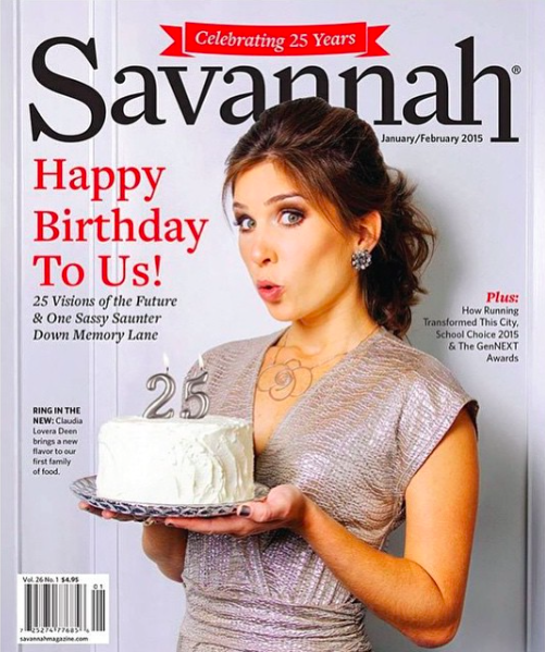 Savannah Magazine - Print (cover) - Ring In The New Year: Claudia Lovera Deen brings a new flavor to our first family of foodJanuary-February 2015