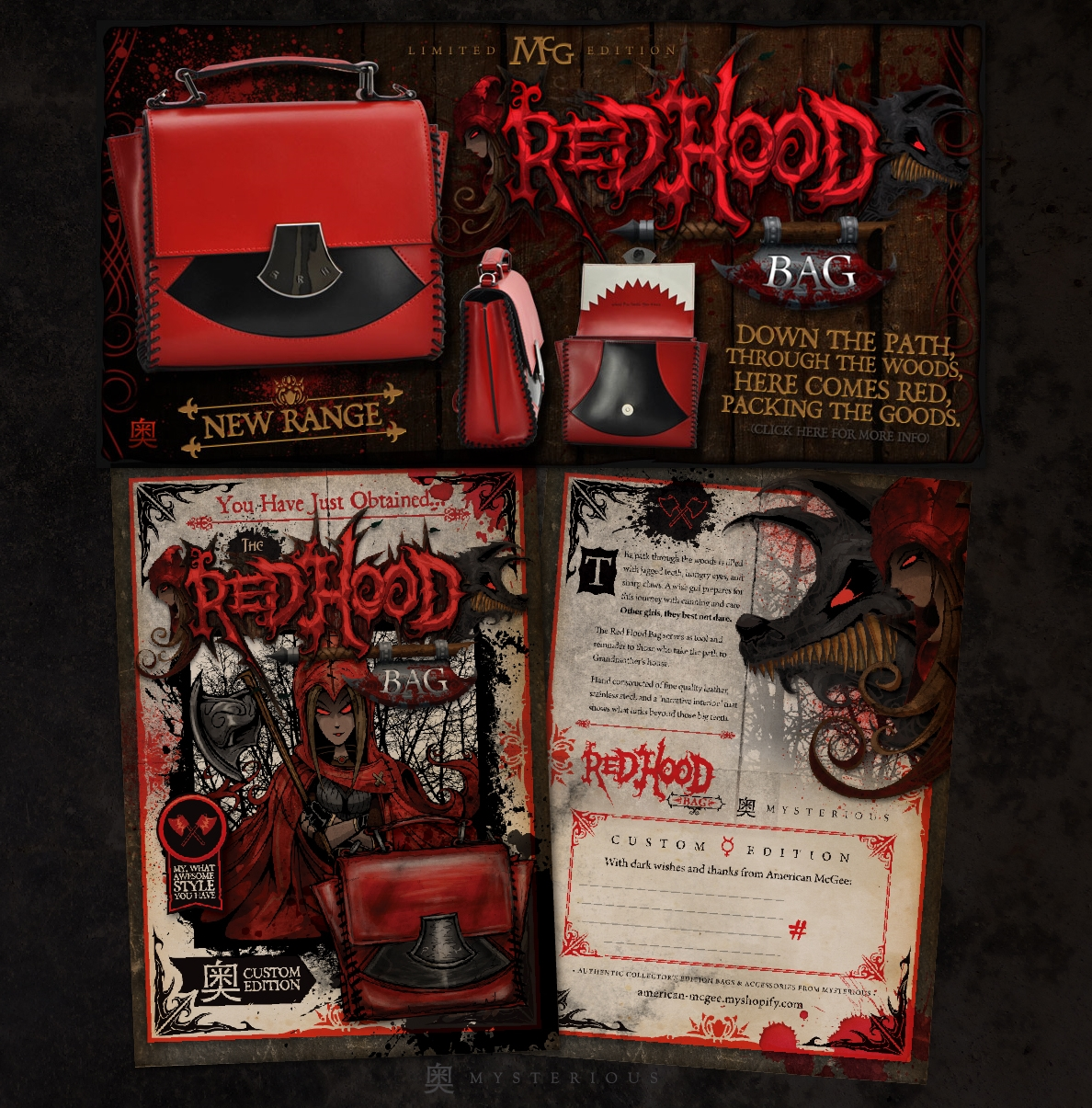 RedHood Bag // Mysterious