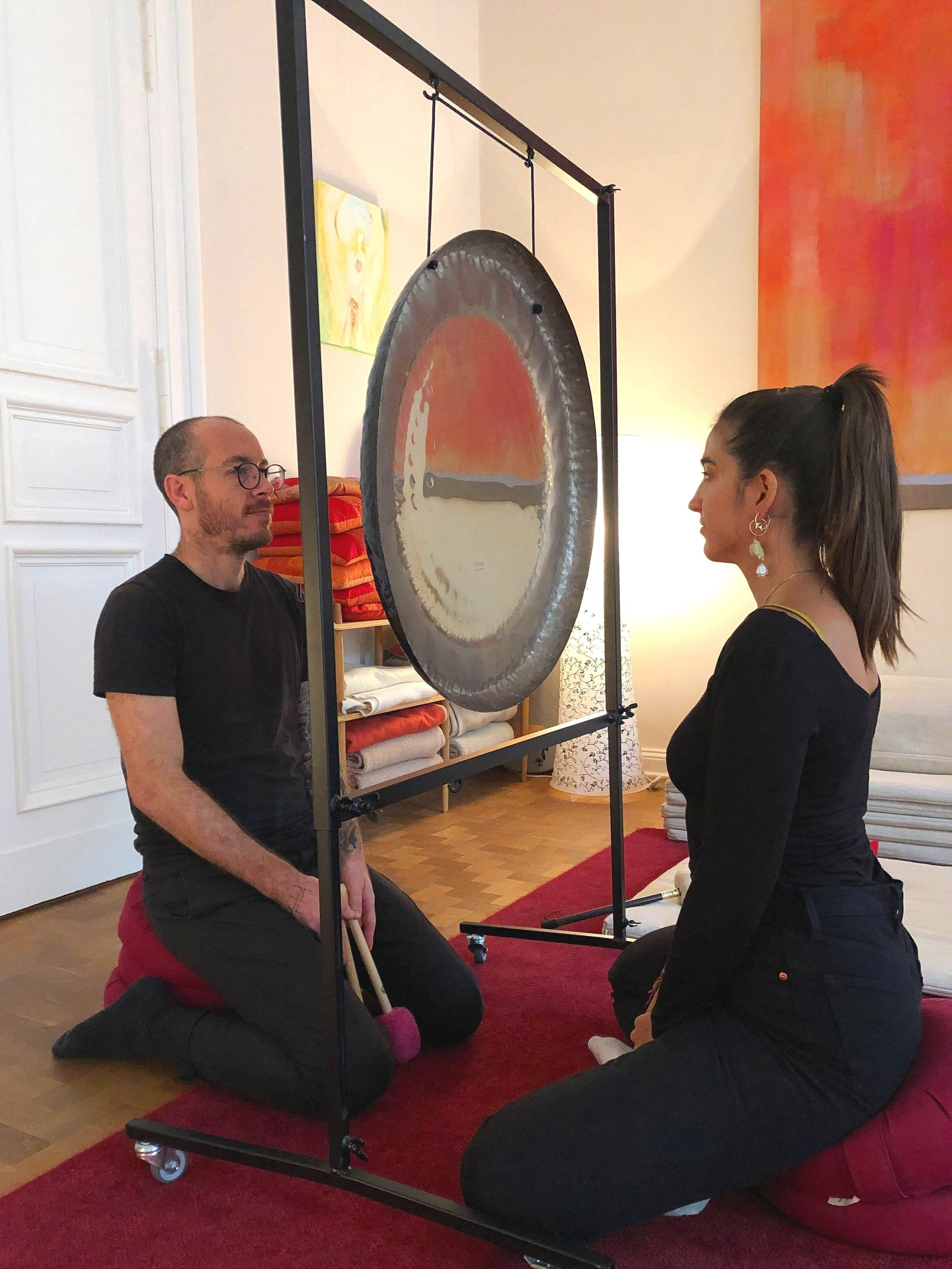 Gong Mirror Meditation during the Initiation into Gong Workshop Berlin
