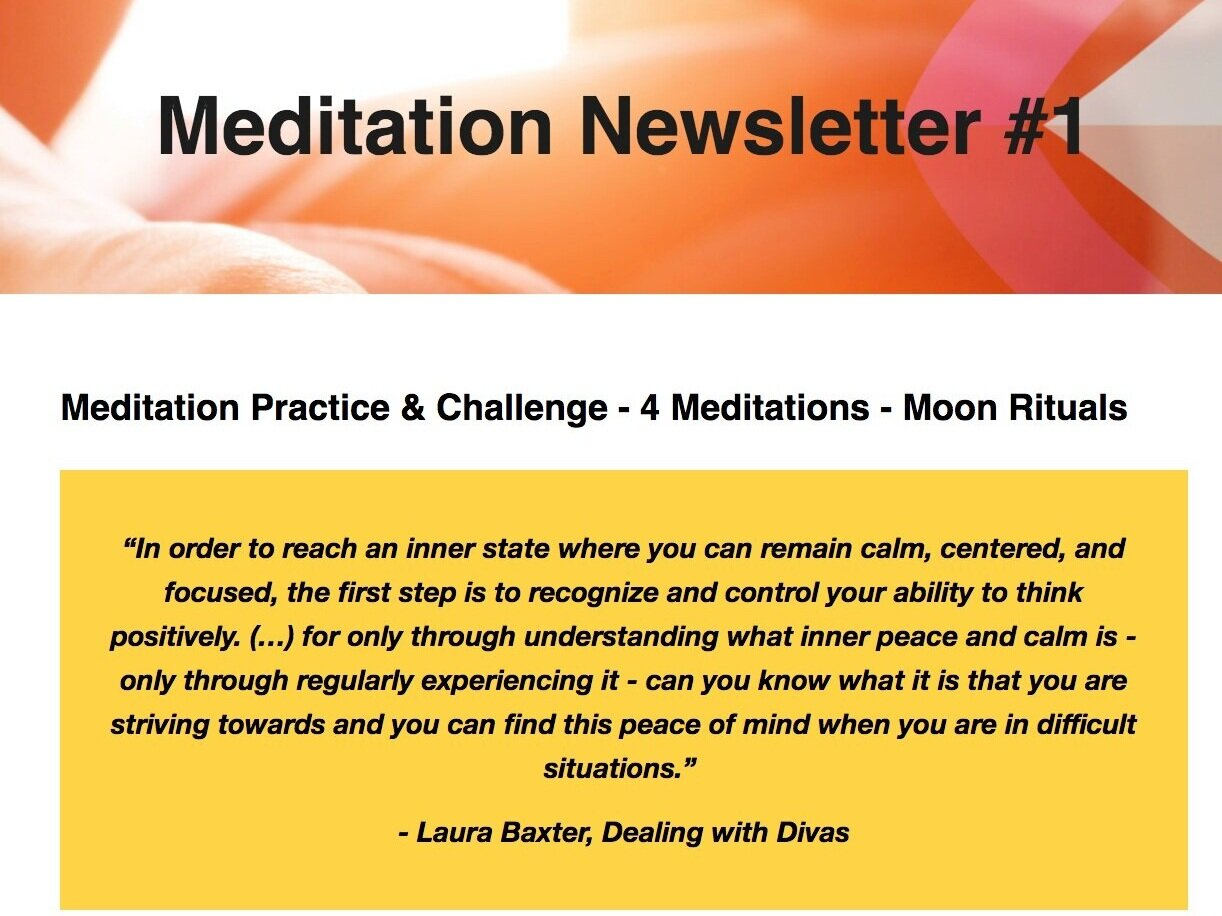 Meditation Newsletter #1 came out in October 2019. Click on the image to read the complete Newsletter.