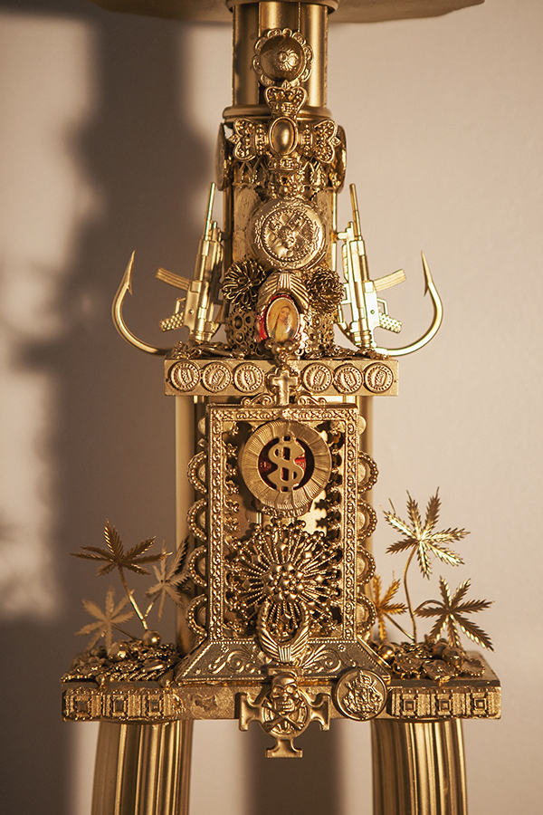 """""""Trophy #3 -- A Cryptic yet Precise Ritual of Confrontation Between the Designs of Good & Evil"""" (detail)"""