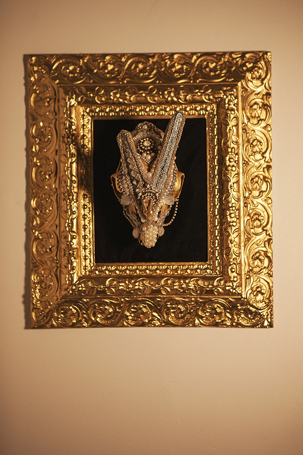 """""""Beguiled and Bejeweled #2""""  18"""" x 16"""", skull 9"""" x 5"""""""