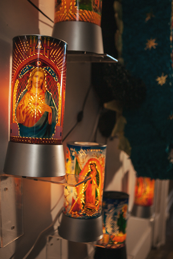 """""""Guadalupe and the Night Lights""""  Night Lights 12"""" x 5"""""""