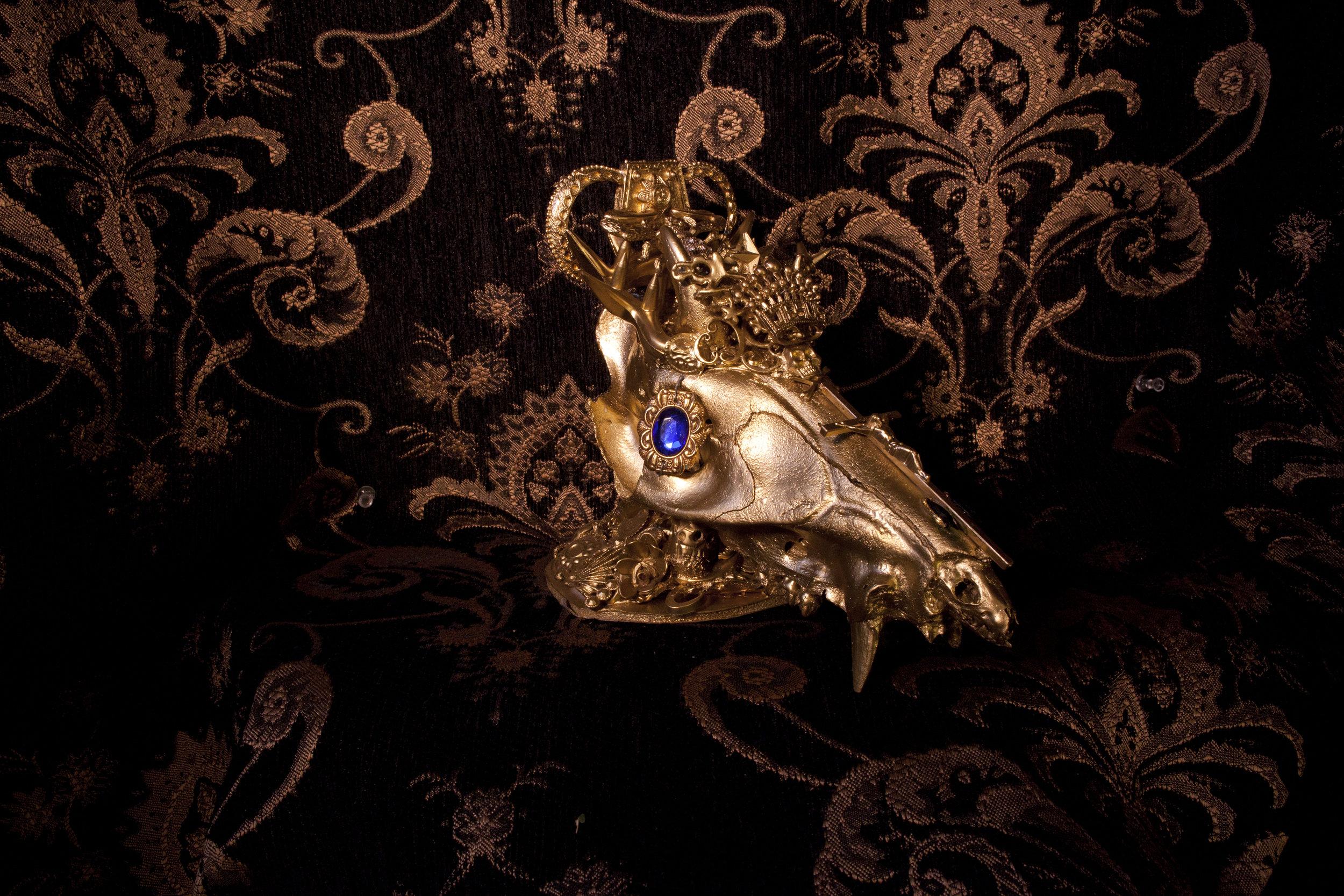"""Golden Cartel Calf""  Photo Montage, mixed media  2015"