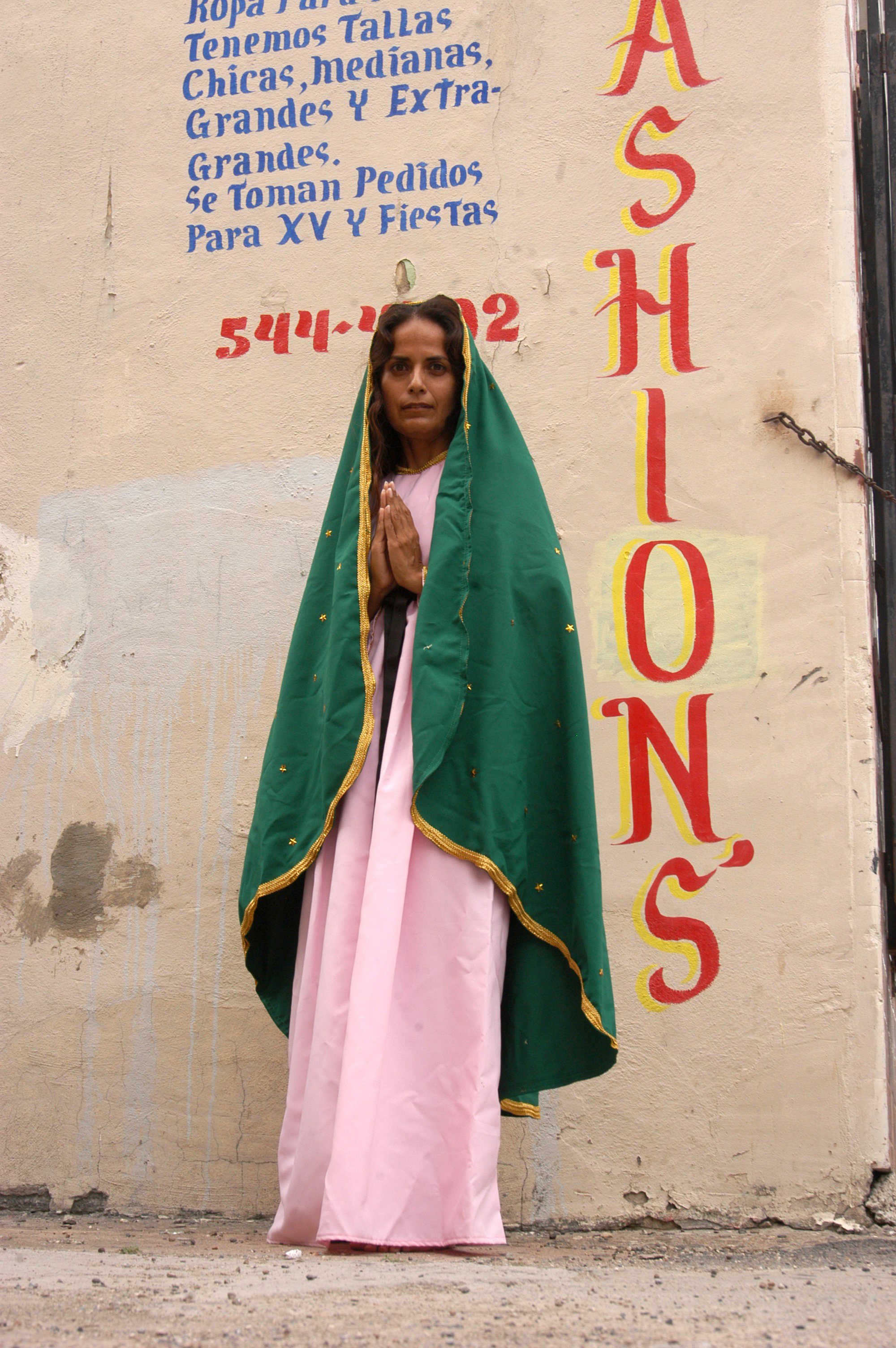 """""""Virgin in Alley""""  Photograph of performance  2011"""
