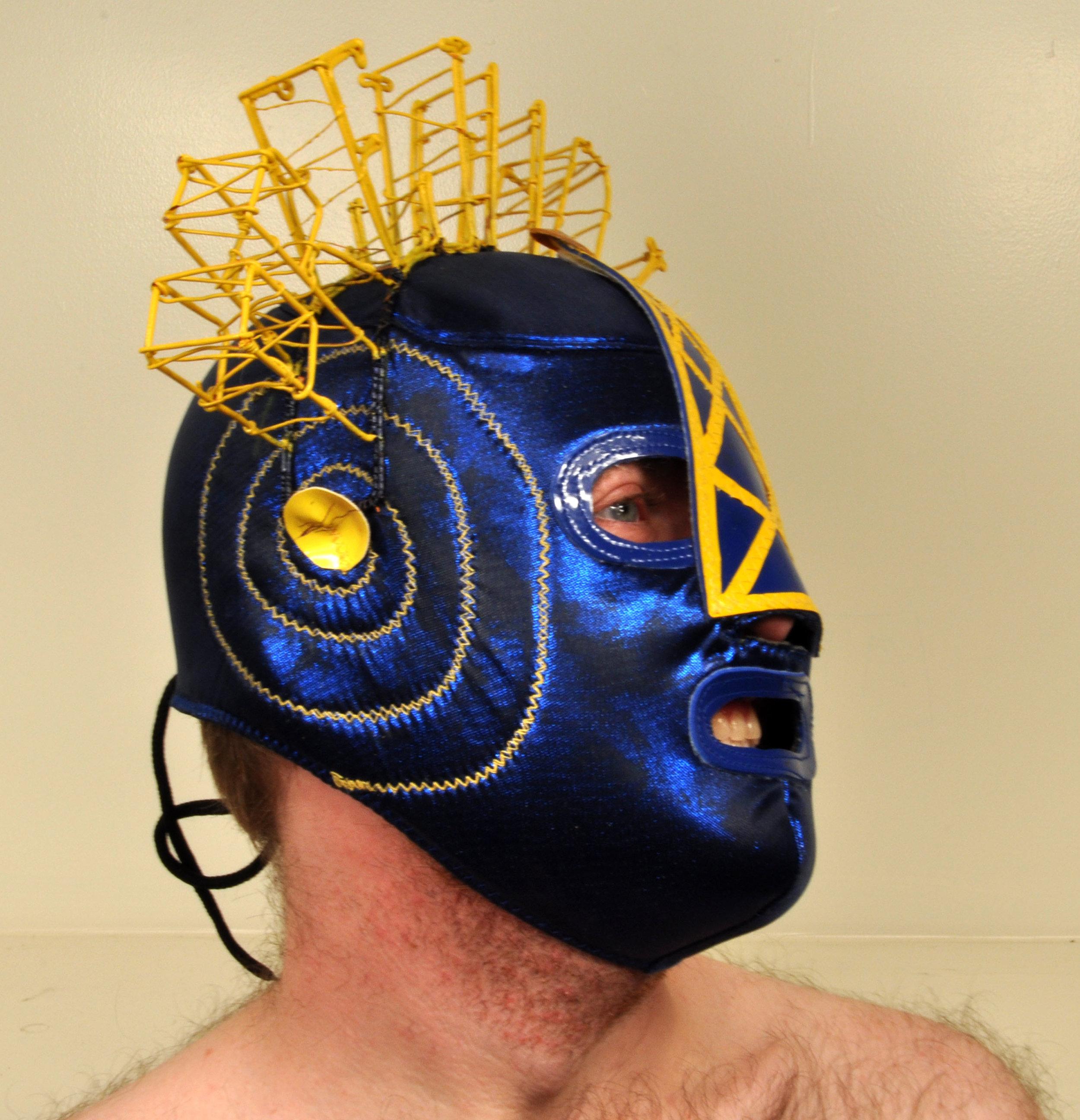 """Wrestling Mask Prejudice B""  Variable Dimension  2011"
