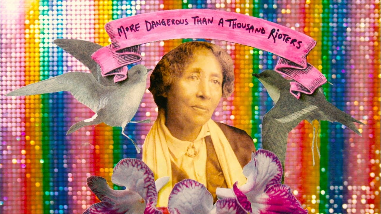 Still Image from Kelly Gallagher's animated documentary on the life of Lucy Parsons.   MORE DANGEROUS THAN A THOUSAND RIOTERS (2016)