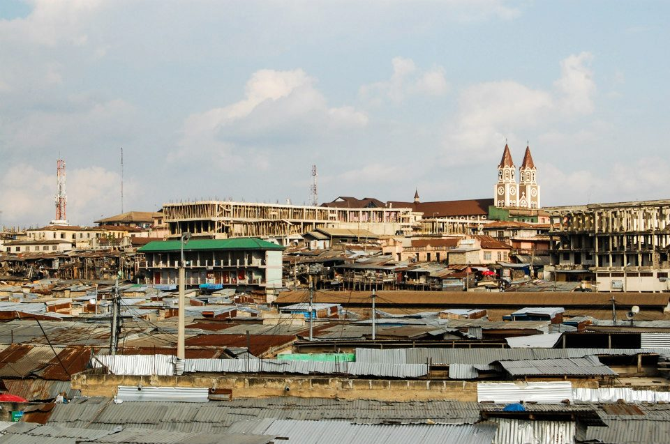 Kumasi Market in Ghana.