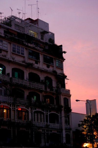 Sunset in Saigon.