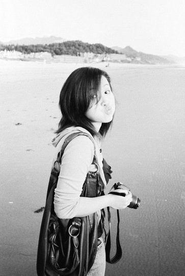 Me at Cannon Beach, Oregon. Many moons ago.