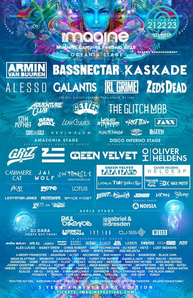 Imagine Music Festival Lineup