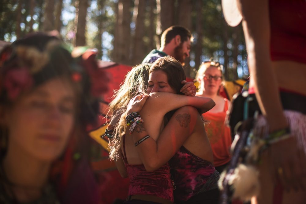 Photo Credit - Electric Forest:  Sometimes a hug is all we need.