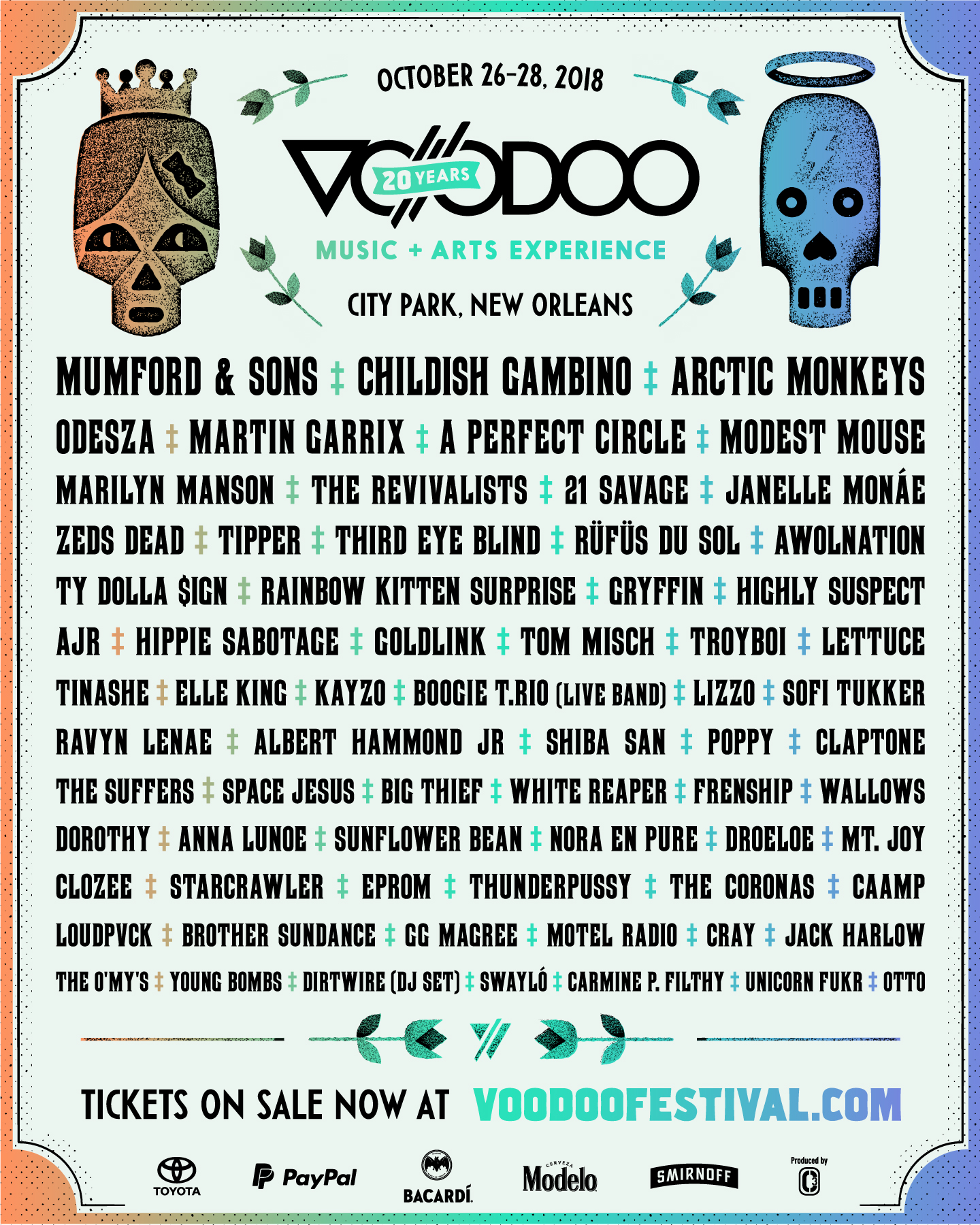 Voodoo Music Festival Lineup