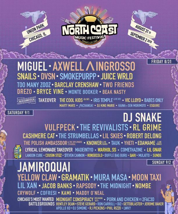 North Coast Music Festival Lineup