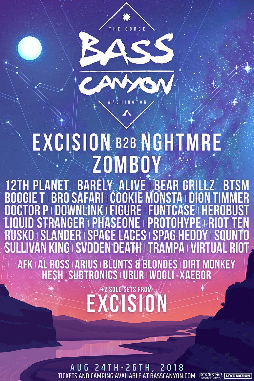 Bass Canyon Lineup