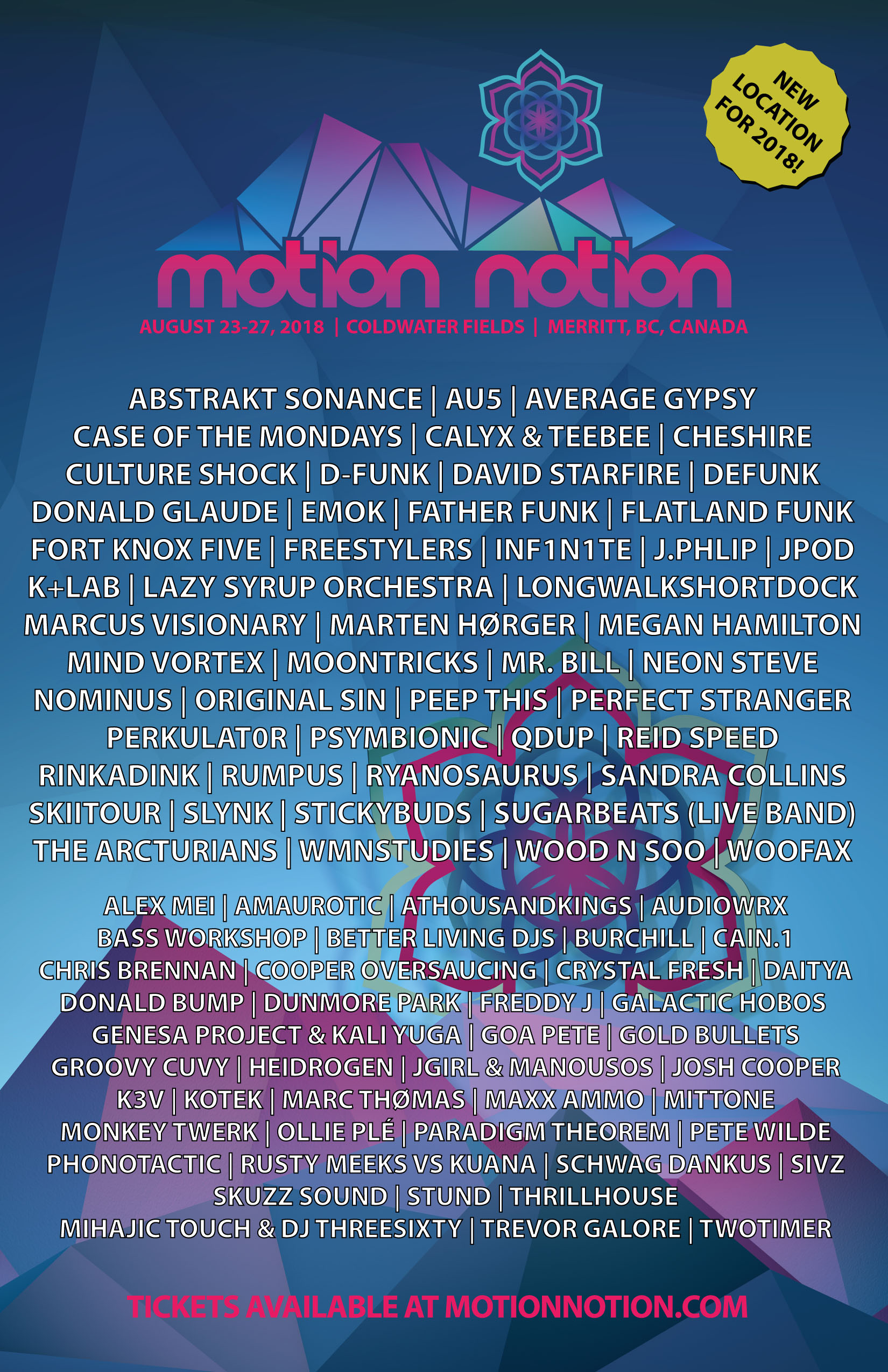 Motion Notion Lineup