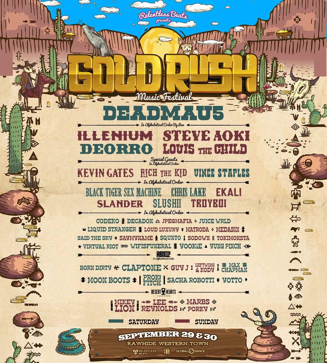 Gold Rush Music Festival Lineup