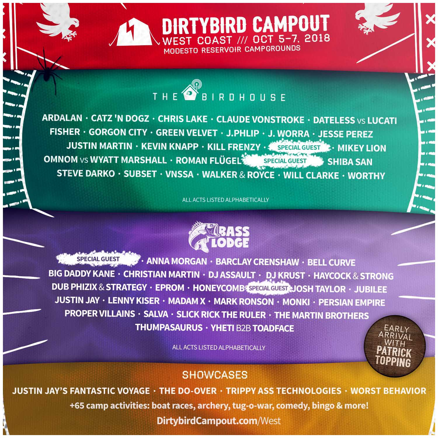 Dirtybird Campout West Lineup
