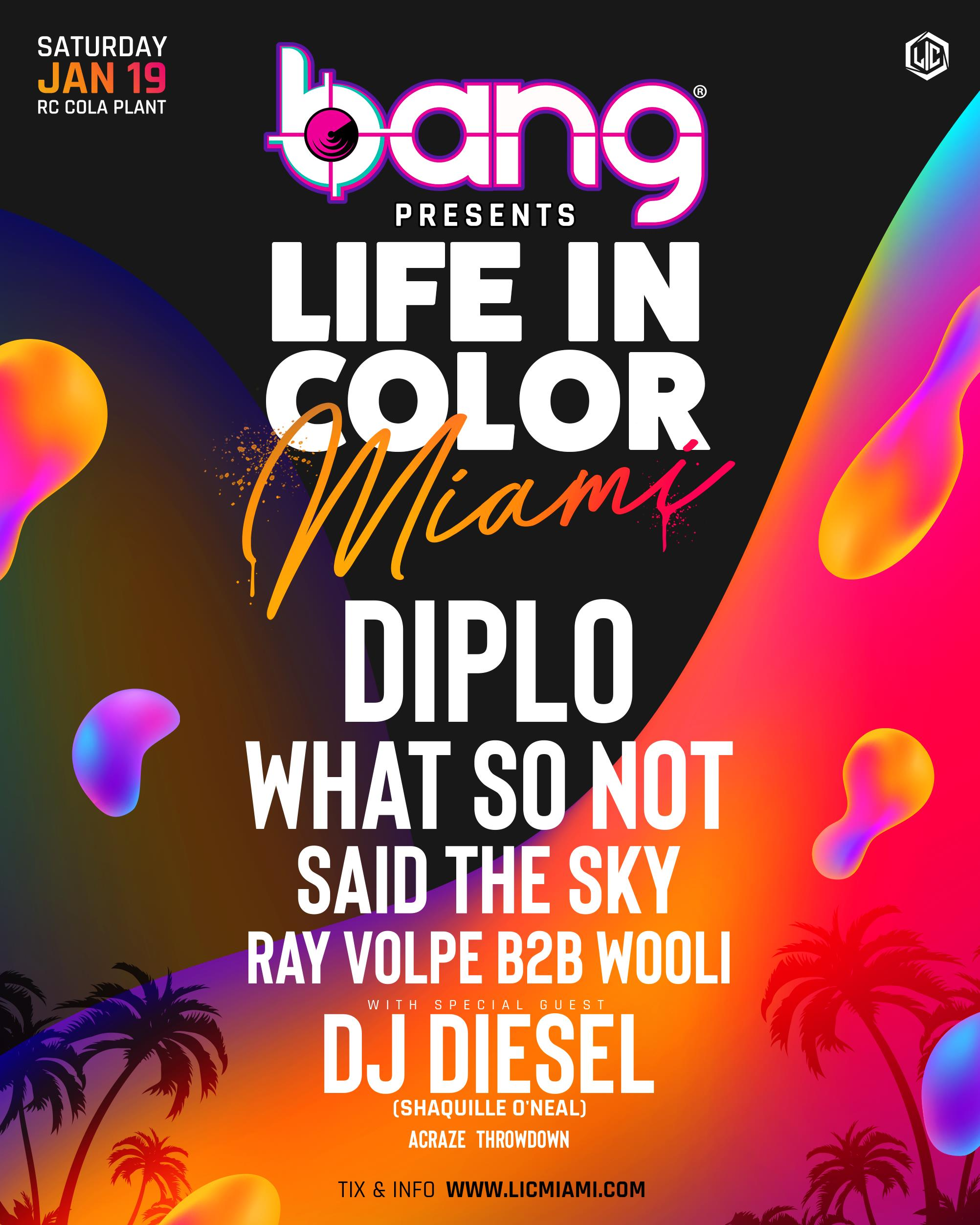 Life in Color Miami Lineup
