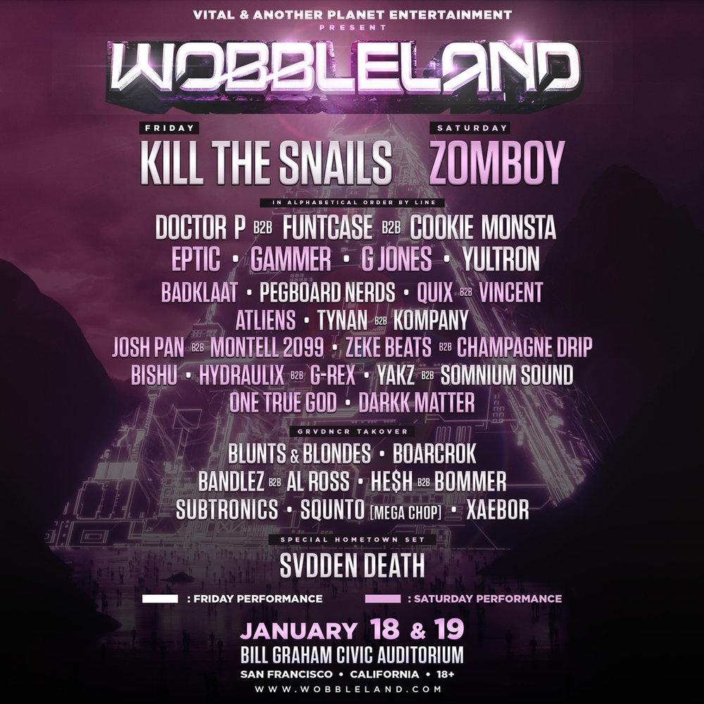 Wobbleland Lineup