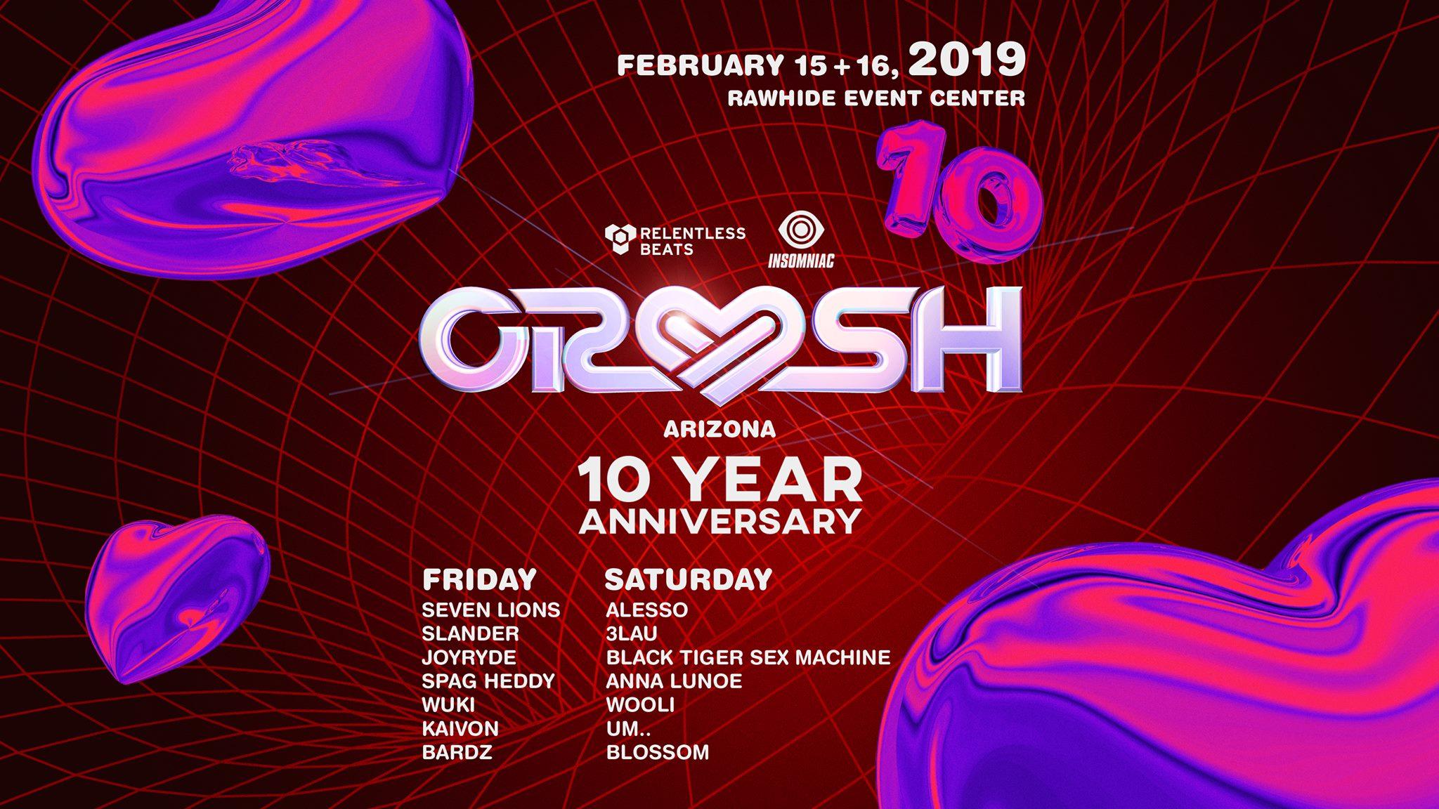 Crush Arizona Lineup