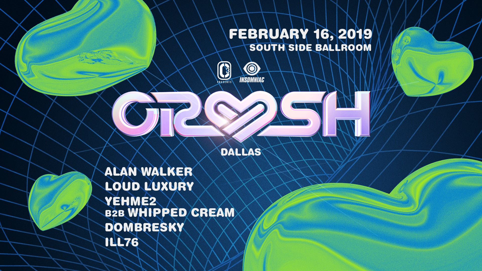 Crush Dallas Lineup