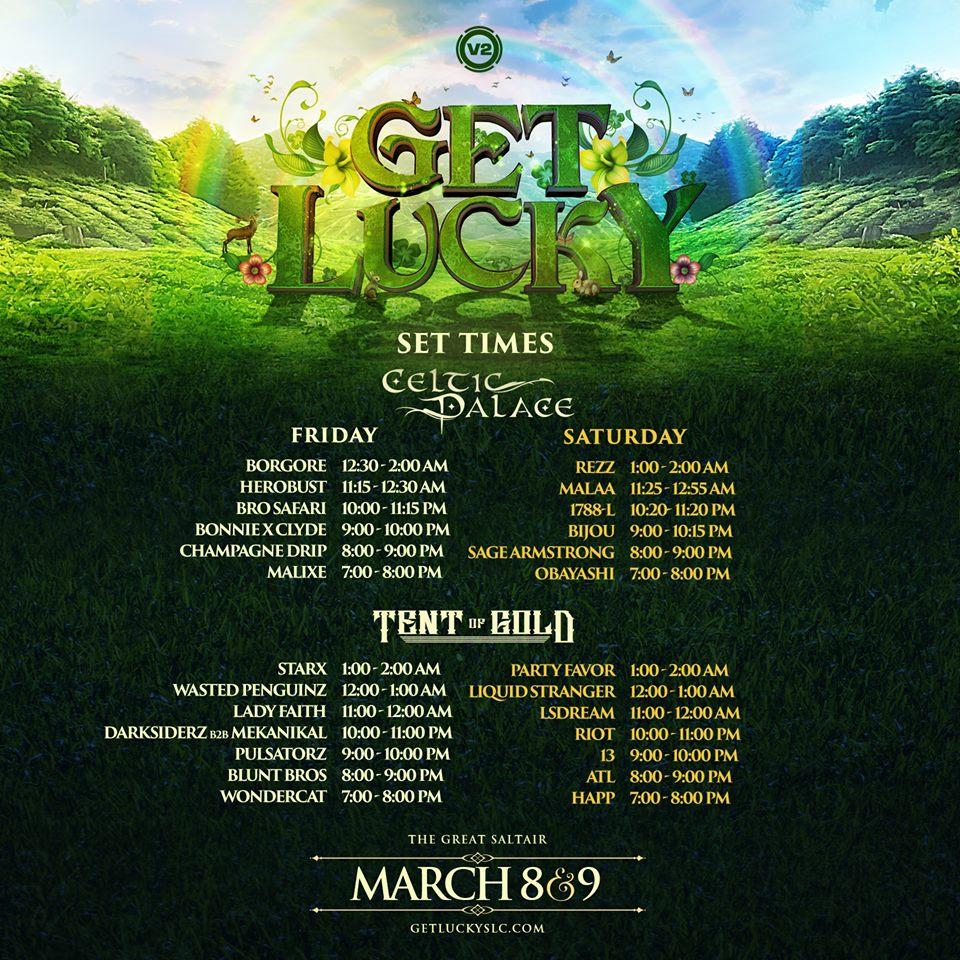 Get Lucky Lineup