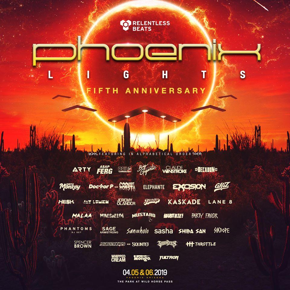 Phoenix Lights Lineup