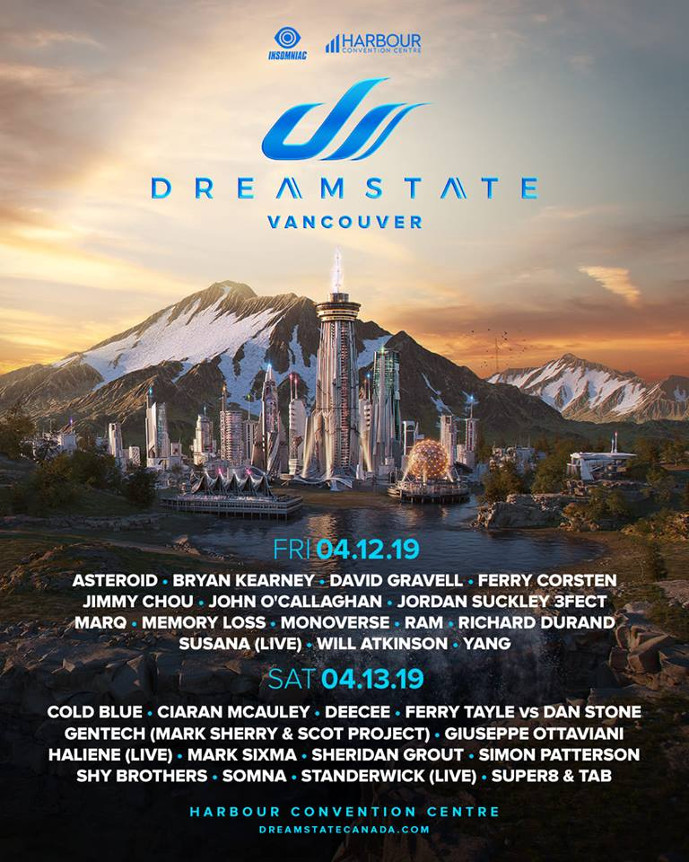 Dreamstate Vancouver Lineup