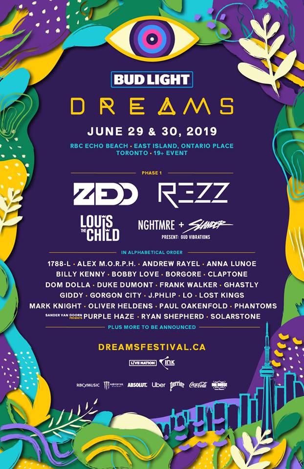Dreams Festival Lineup