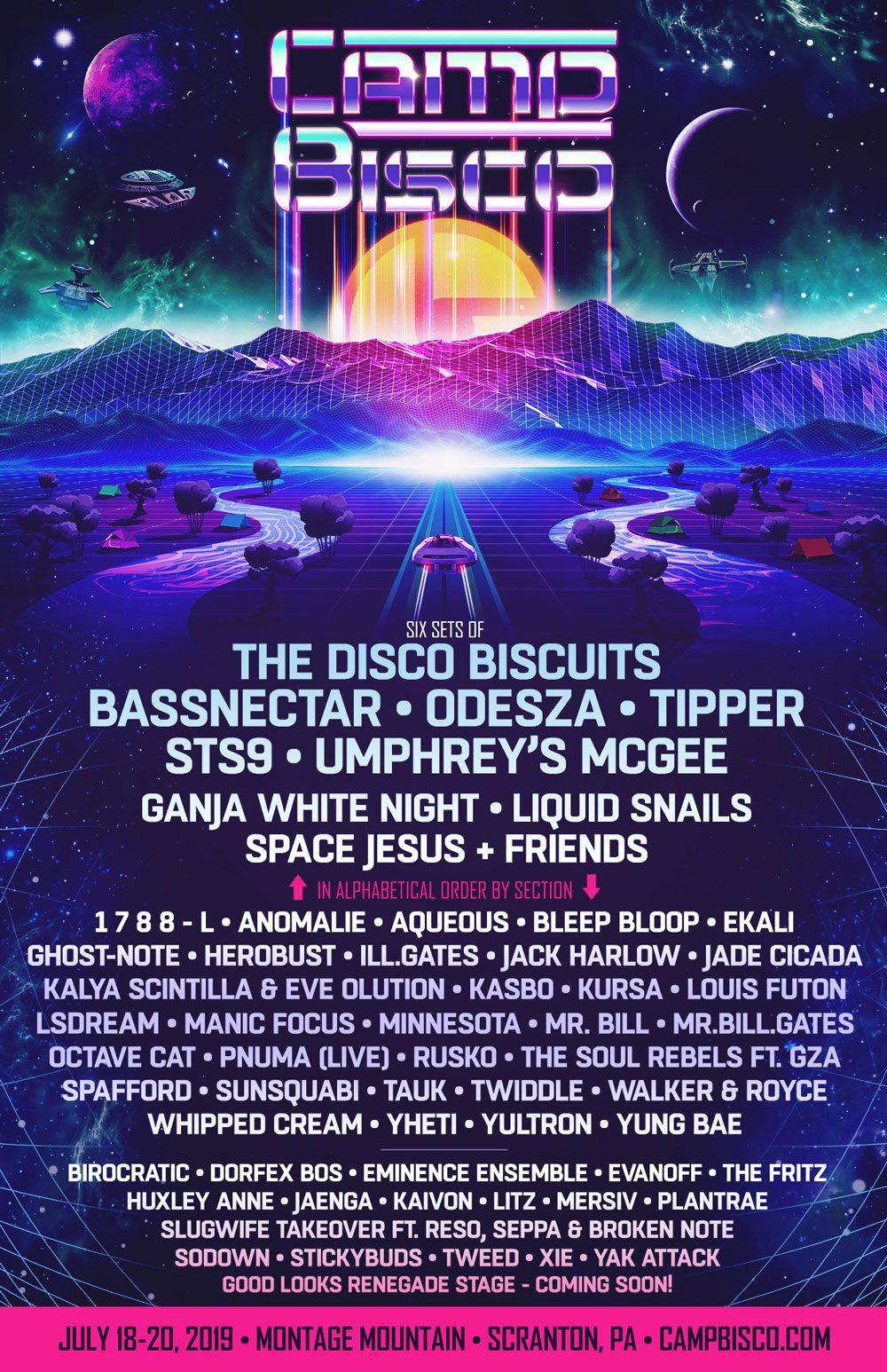Camp Bisco Lineup