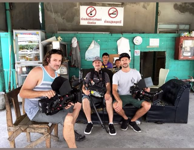 The LFF crew rocking the mustaches in Thailand! Who shaved their's first?  #r3d #angenieux #filmmaking #getoutthere #thailand #mustache