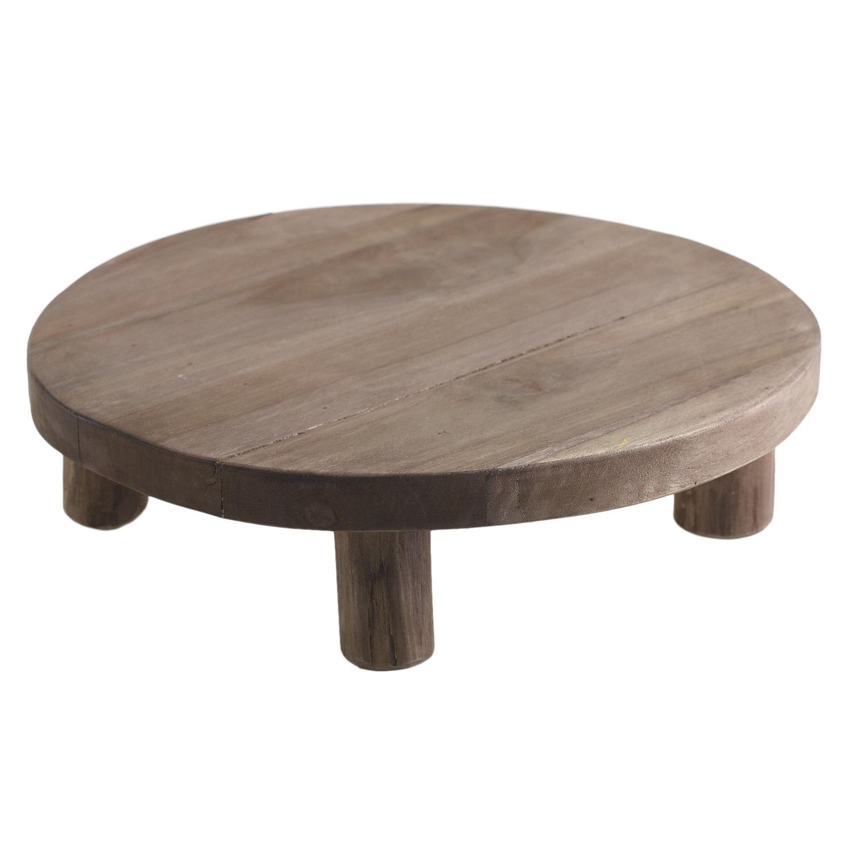 Wood Pedestal  2 Available / $12 ea.