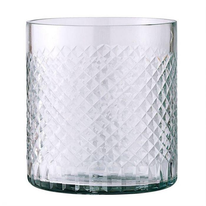 "Etched Glass Votive 4""  6 Available / $4 ea."