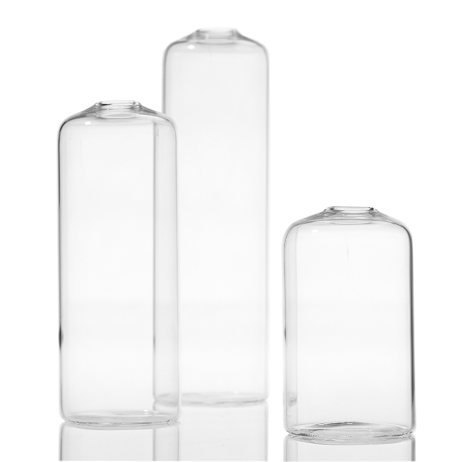 """Clear Glass Bud Vases 3""""-6""""  100 Mixed Available / $2 ea."""