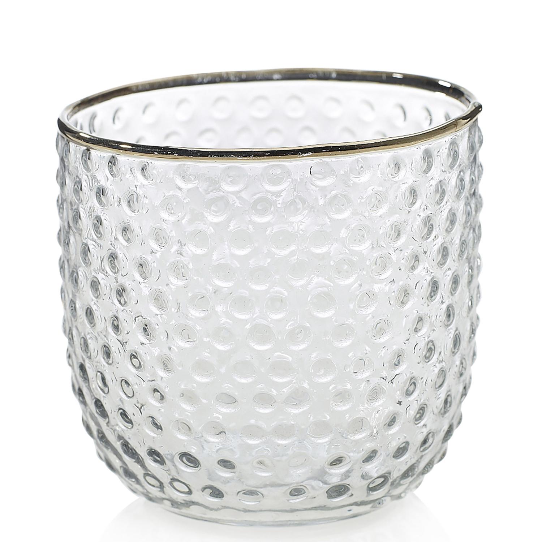Gold Rim Glass Votive  15 Available / $4 ea.
