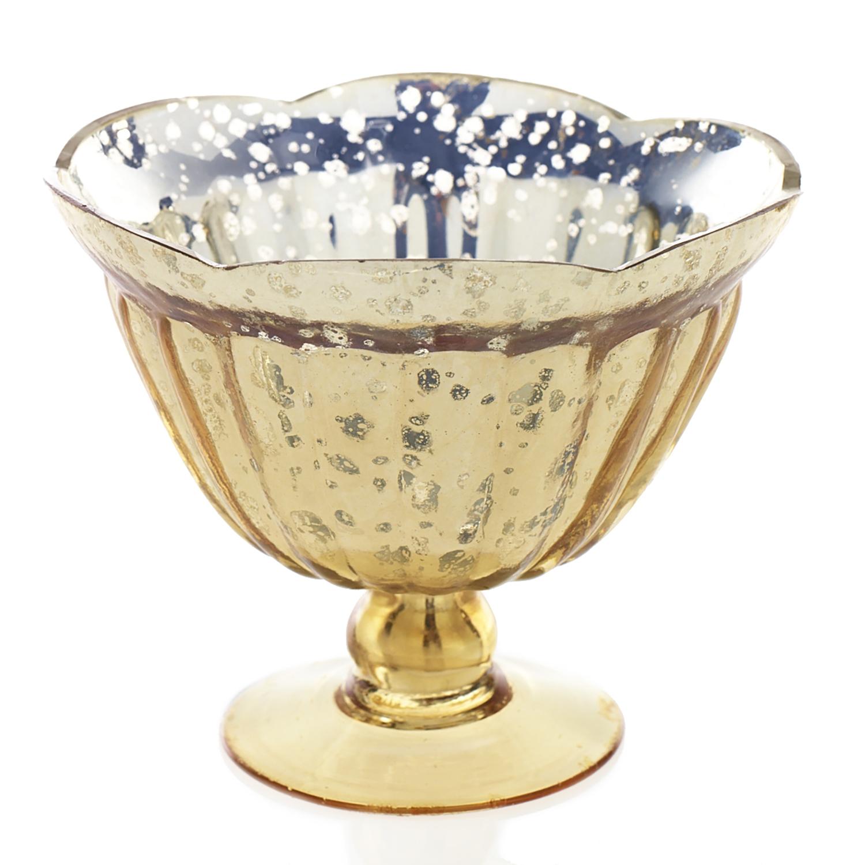 Gold Mercury Bowl  12 Available / $8 ea.