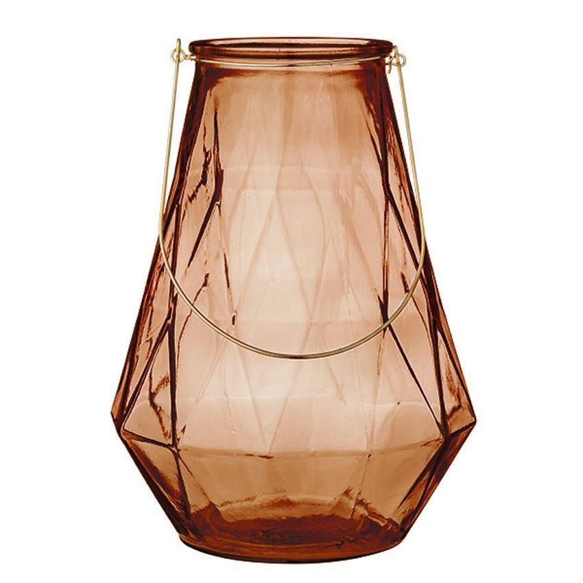 "Rose Glass Lanterns 18""  4 Available / $15 ea."