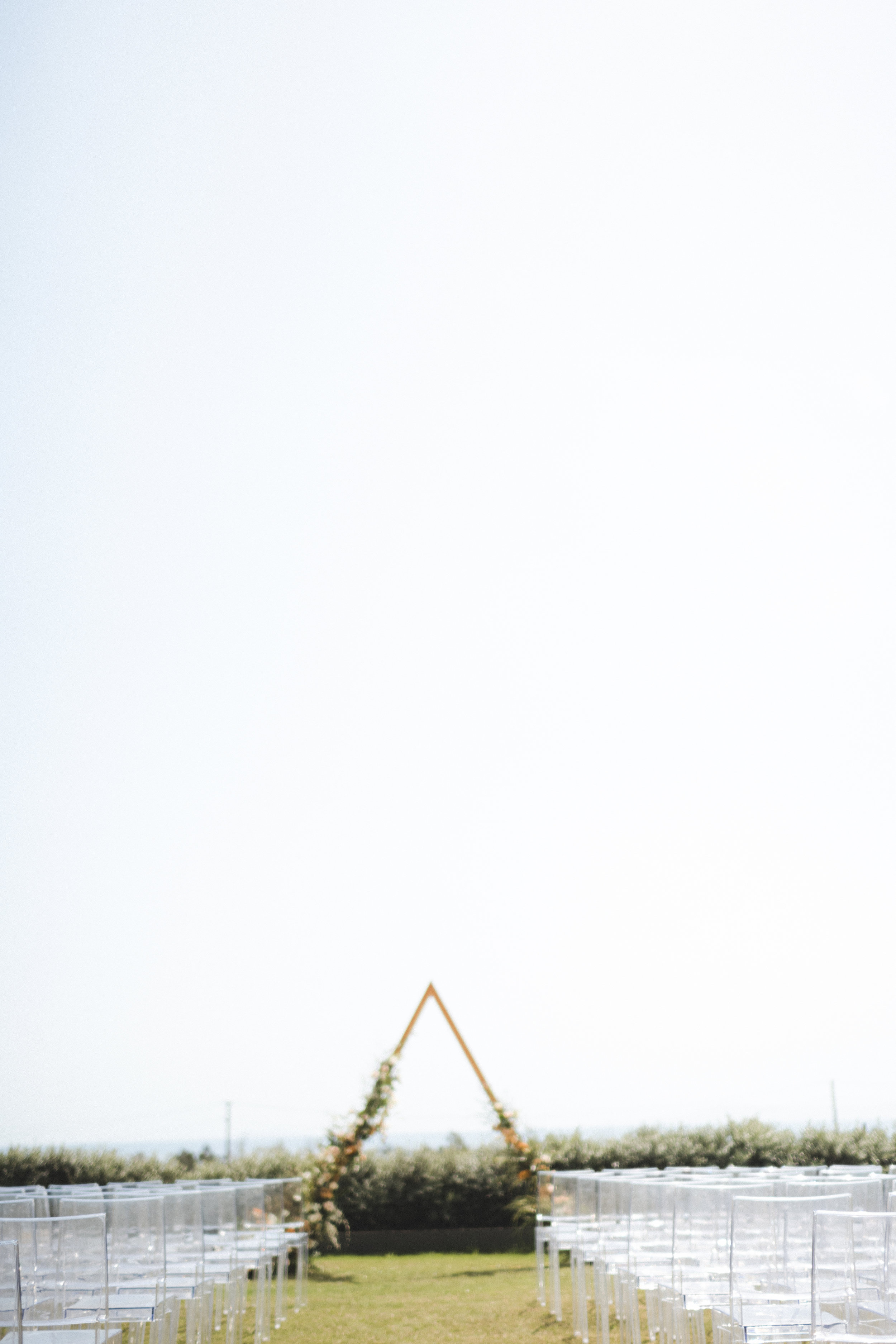 Triangle Wedding Ceremony Structure