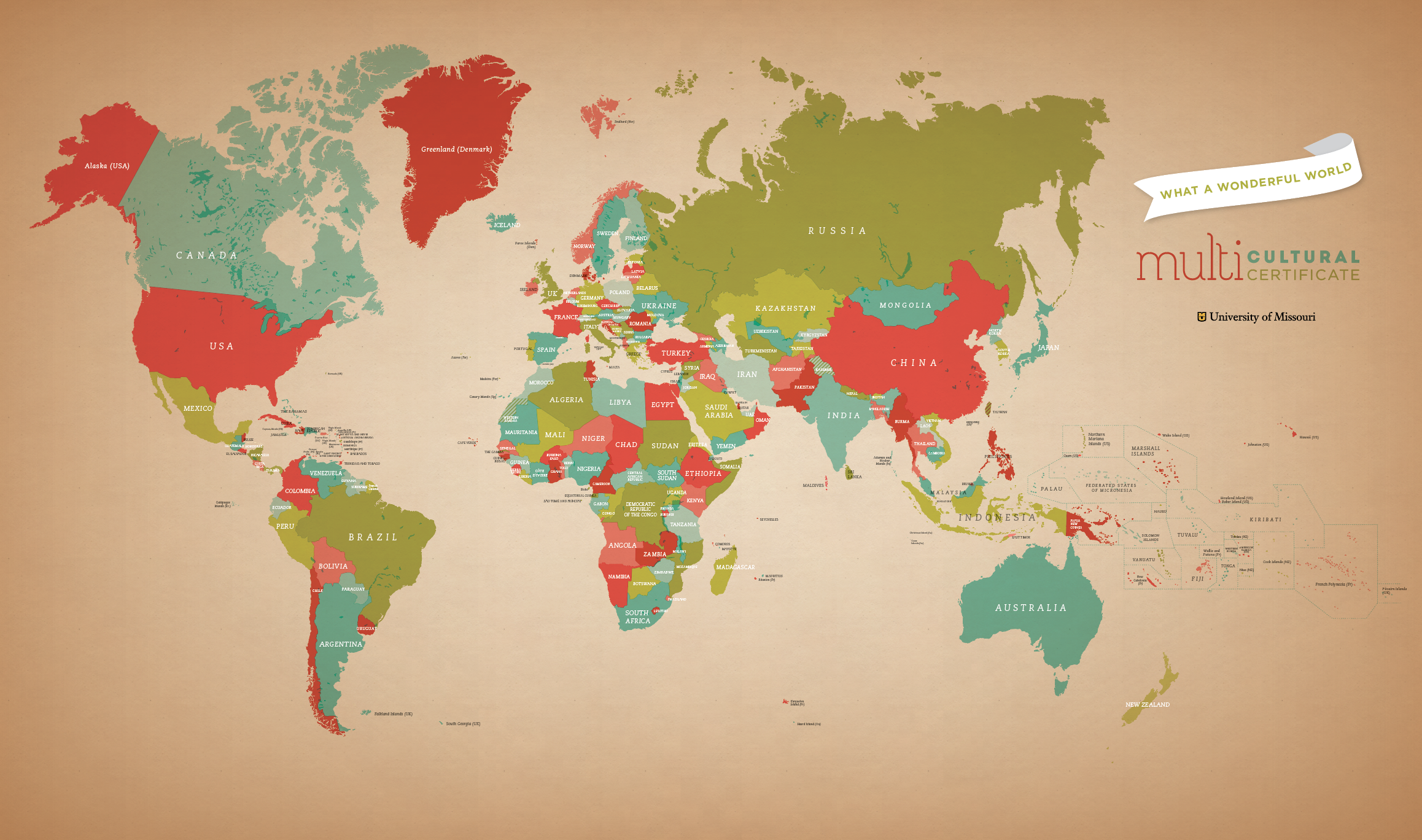 World map in exonyms (English) | Avery Enderle Wagner