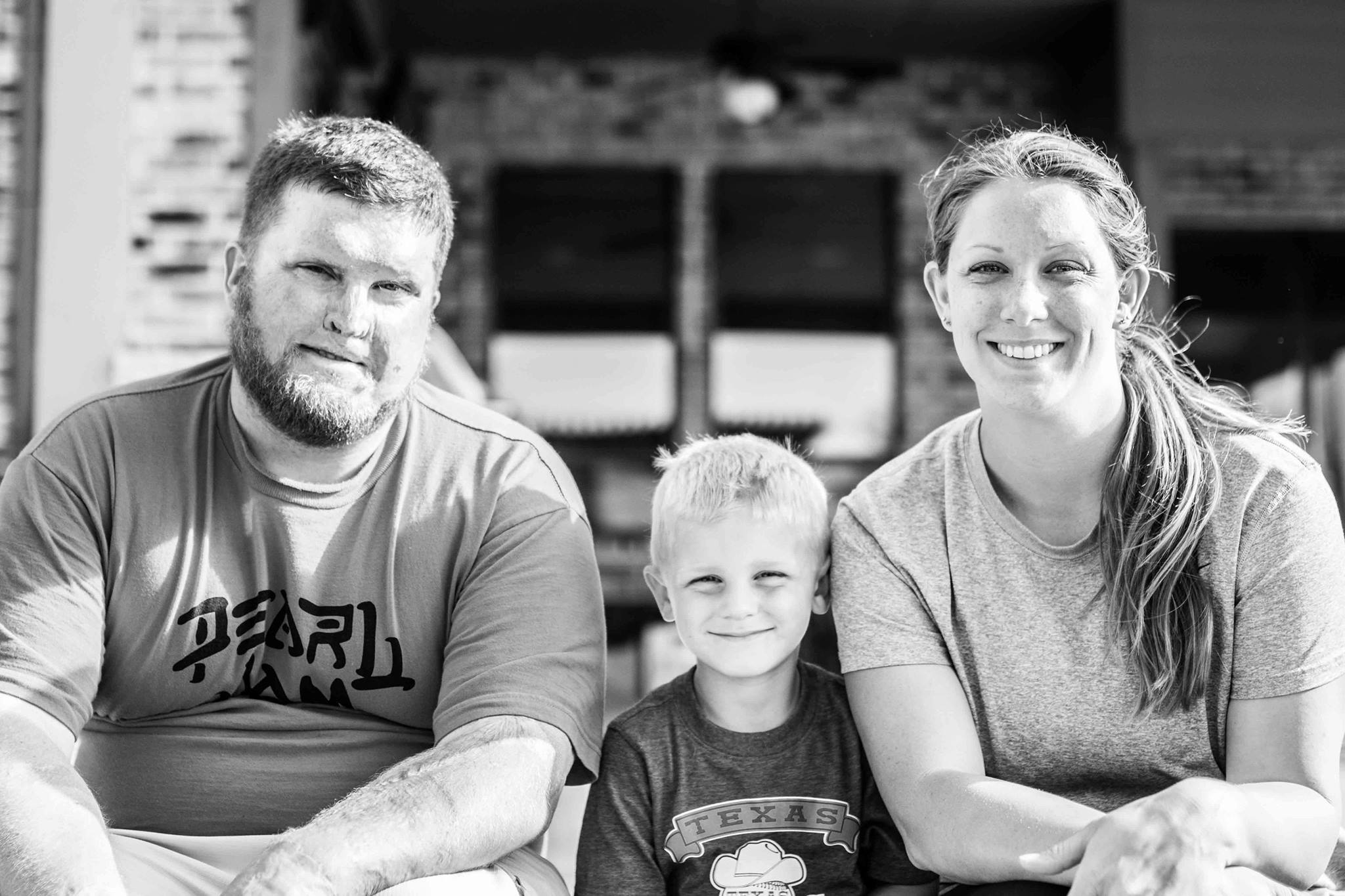 Joe, son King, and wife Jenn