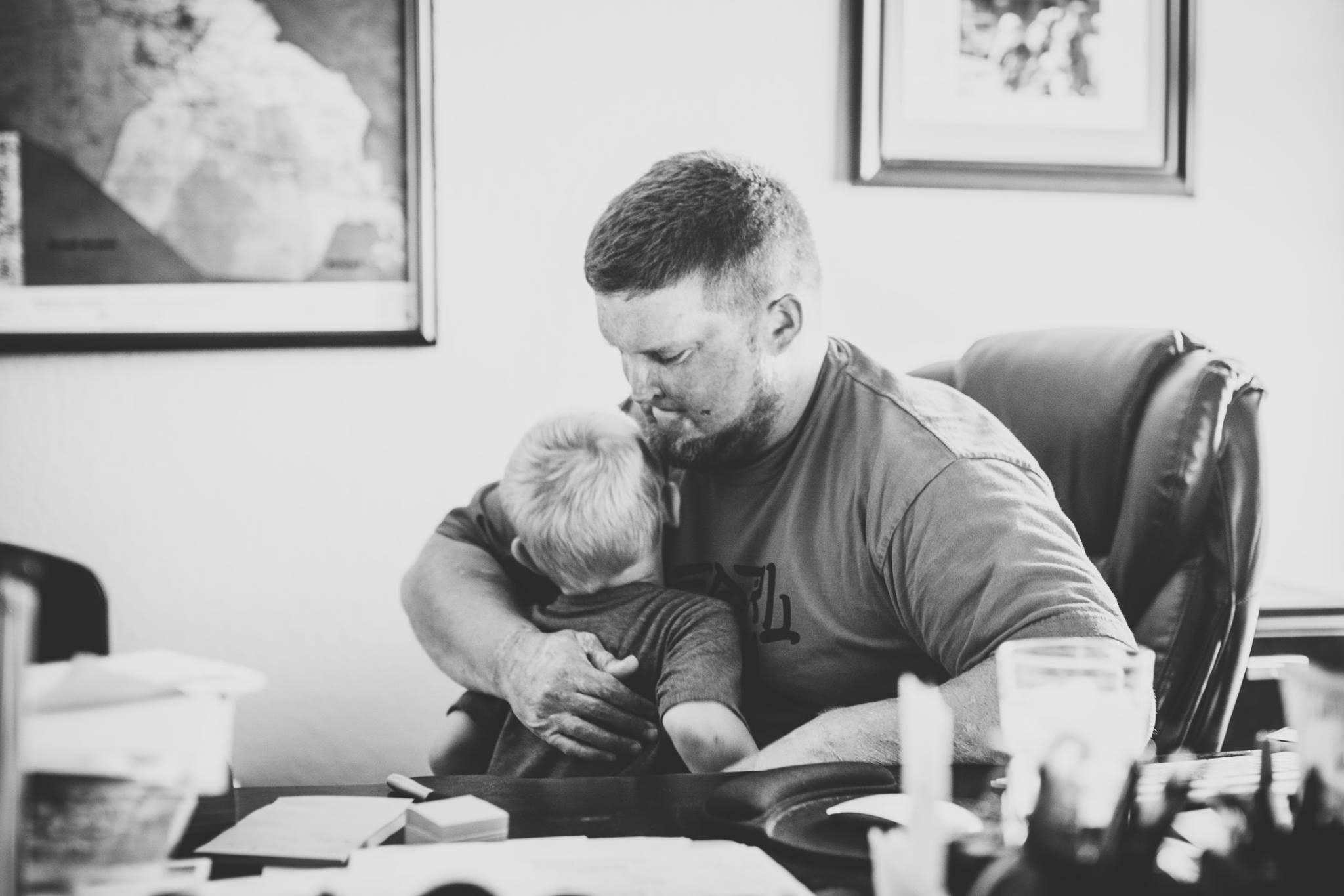 Joe and his son, King