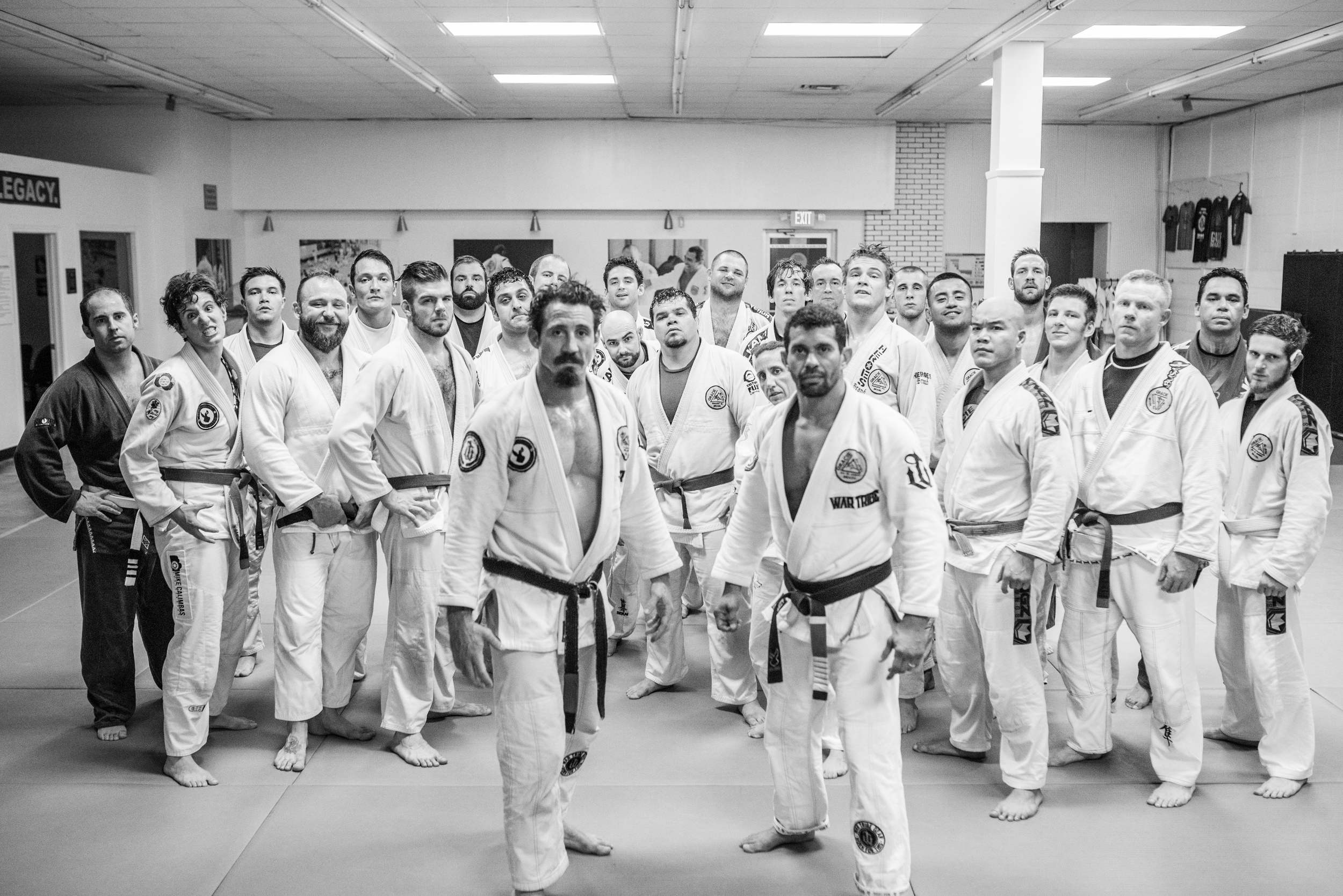 The crew over at Gracie Humaitá Austin, with Tim Kennedy and Paulo Brandao up front.