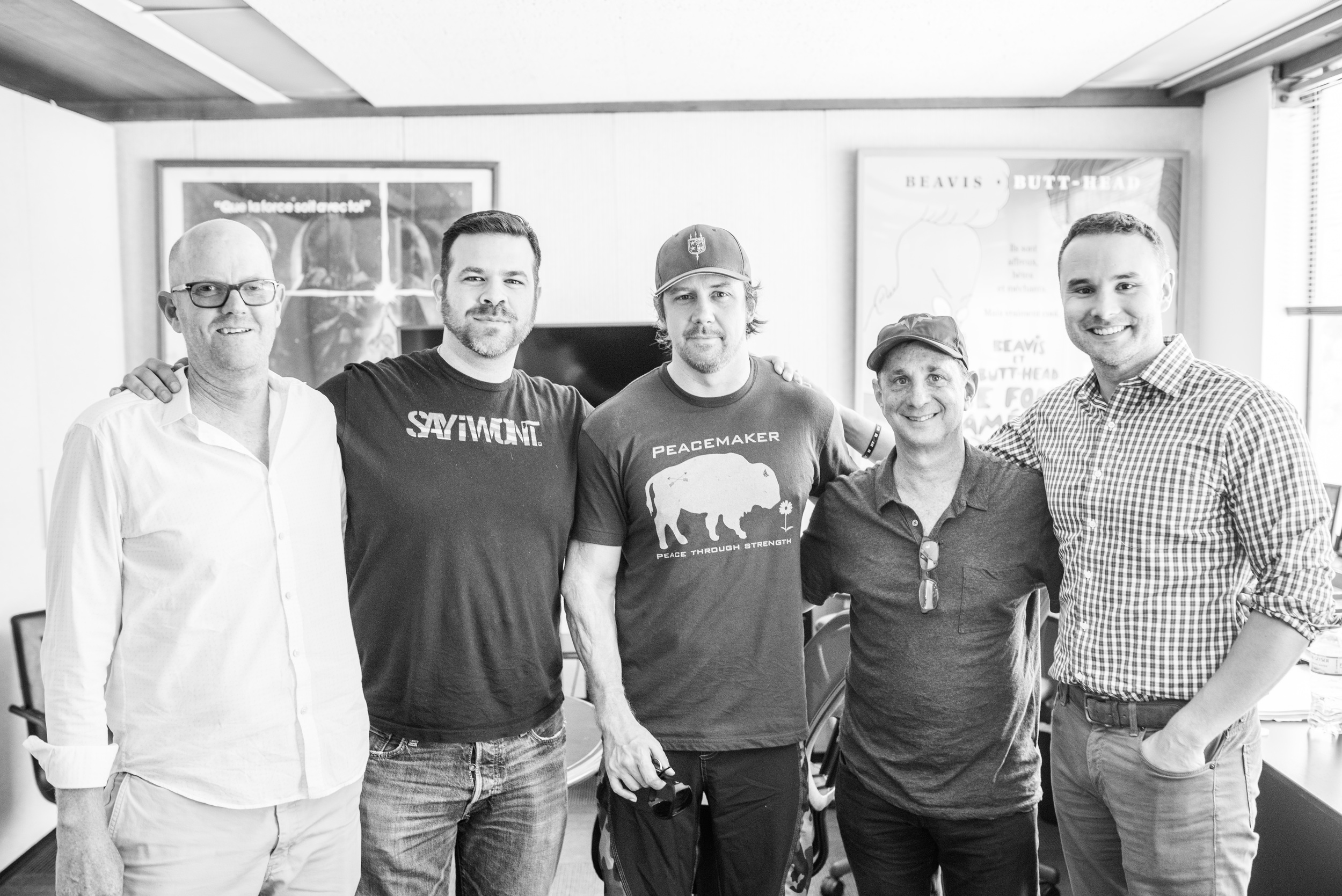 Tyler with (from left to right) David Harden (Board of Directors, We Are the Mighty), Mike Dowling, David Gale (CEO and Co-Founder of We Are the Mighty) and Mark Harper (SVP Creative and Business Development, We Are the Mighty).